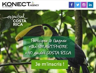 Le saviez-vous ? L'Office du Tourisme du Costa Rica fait son quiz avec PromoAGV