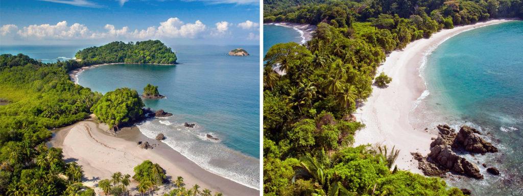 Paradisiacas playas en el Parque Nacional Manuel Antonio