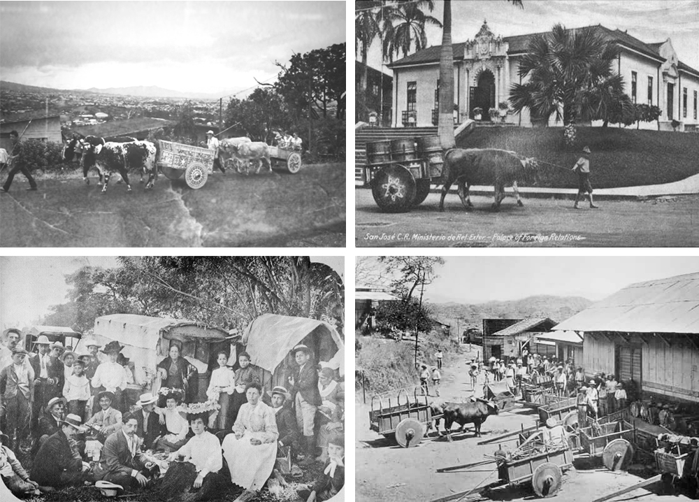 Fotos históricas de carretas y bueyes costarricenses