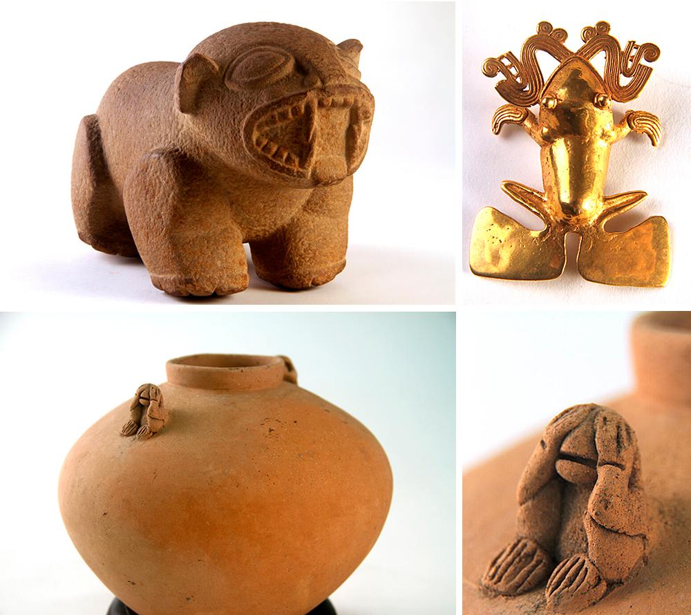 Arte precolombino encontrado en los yacimientos