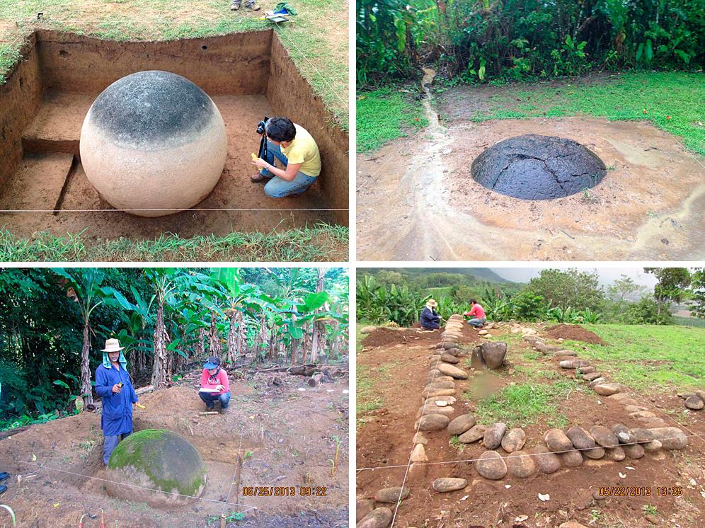 Escabaciones arqueológicas en el delta del Diquis