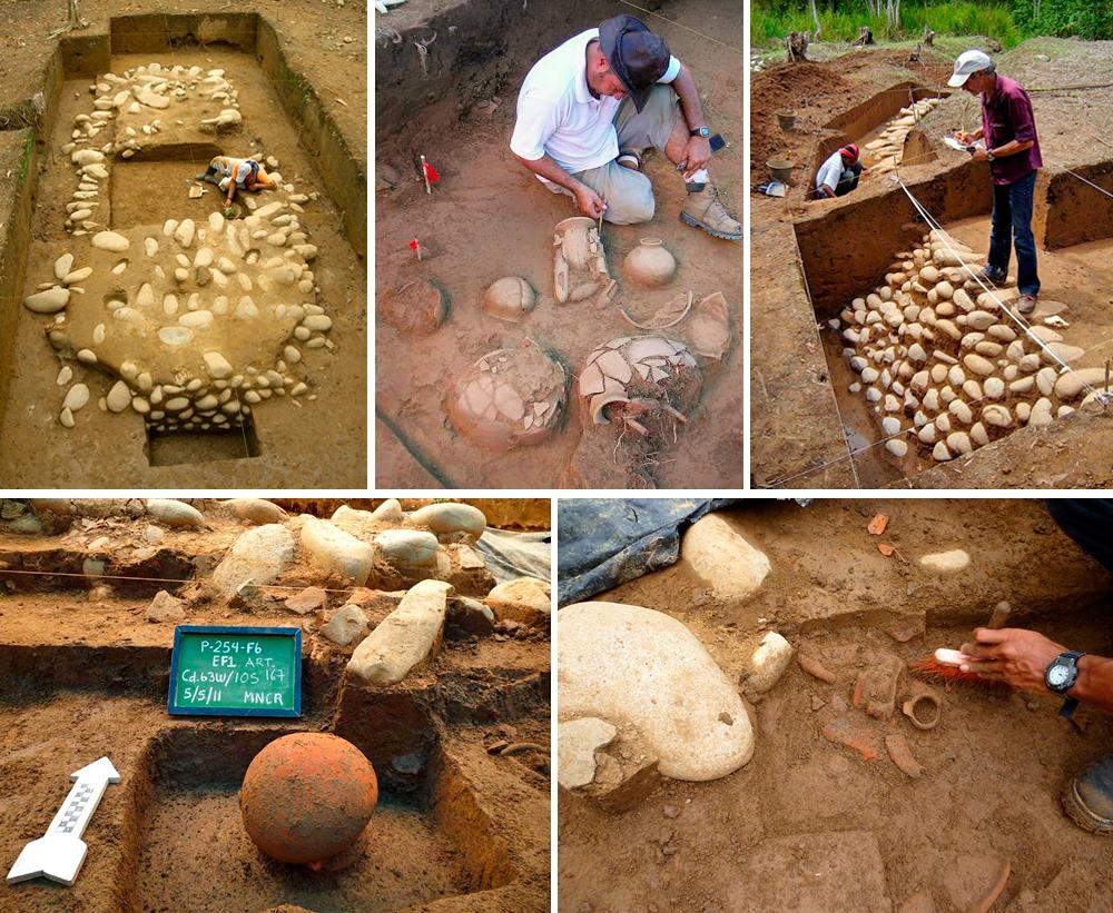 Excavaciones en yacimiento funerario