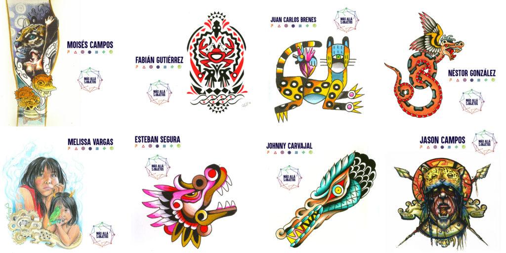 Los ocho diseños seleccionados que formarán parte del catálogo colectivo