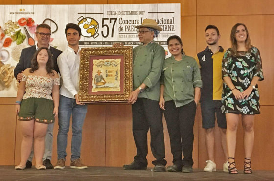 Costa Rica gana el tercer premio en el 57º Concurso Internacional de Paella Valenciana