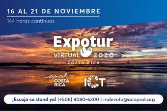 EXPOTUR VIRTUAL 2020  promocionará a Costa Rica  como destino preferente de la nueva forma de hacer turismo.