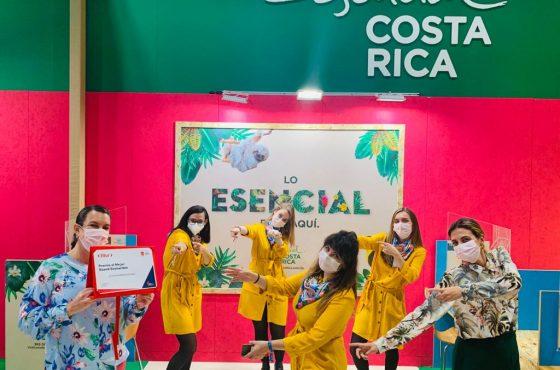 "COSTA RICA RECIBE EL PREMIO  ""STAND SOSTENIBLE"" EN FITUR 2021"