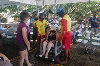 Playa Hermosa en Osa se convierte en la primera playa accesible de la Región Brunca