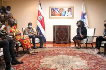 """El rey de Ghana invitado al """"Día Internacional de los Afrodescendientes de la ONU"""" en Costa Rica"""